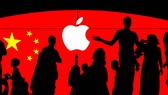 China has been the production base on which Apple's global success has been built. (Nikkei Montage / Reuters)