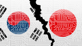 South Korean and Japanese companies play major roles in chip production, creating global consequences for the bilateral trade dispute.