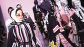 Models walk the runway in modest designs by sought-after Indonesian label Dian Pelangi at New York Fashion Week in February.   © Getty Images