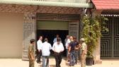 Căn nhà nơi bà Trần Mỹ Lệ và con trai nhốt 6 cán bộ phường Long Bình Tân