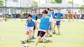 Trại hè Vinschool có nhiều hoạt động thể thao giúp học sinh vui chơi, rèn luyện thể lự