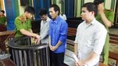 Các đồng bọn của Hiền tại phiên xử sơ thẩm vào tháng 1-2015