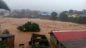Lũ lụt ở Sierra Leone. Ảnh: AP.