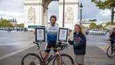 Kỷ lục mới đi xe đạp vòng quanh thế giới