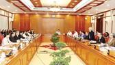 Tổng Bí thư Nguyễn Phú Trọng phát biểu tại buổi làm việc.       Ảnh: TTXVN