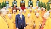 Chủ tịch nước Trần Đại Quang gặp mặt Đoàn đại biểu Hội đồng Chứng minh, Hội đồng Trị sự Trung ương Giáo hội Phật giáo Việt Nam