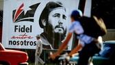 Hình ảnh ông Fidel trên đường phố thủ đô Havana