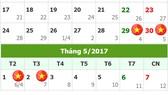 Dịp lễ 30-4 và 1-5 được nghỉ 4 ngày
