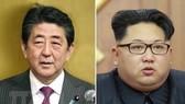 Thủ tướng Nhật Bản Shinzo Abe (trái) và Nhà lãnh đạo Triều Tiên Kim Jong-un. (Nguồn: Kyodo/TTXVN)