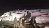 Chiếc máy bay phải hạ cánh khẩn cấp. (Nguồn: dailysabah.com)