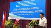 Đại sứ Philippines tại Việt Nam Noel Servigon phát biểu tại Lễ kỷ niệm: Ảnh: KL/ DANGCONGSAN.VN