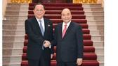 Thủ tướng Nguyễn Xuân Phúc và Bộ trưởng Ngoại giao Triều Tiên. - Ảnh: VGP