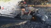 Hiện trường vụ khai thác khoáng sản trái phép