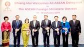 Các bộ trưởng ngoại giao ASEAN trong lễ đón ở Chiang Mai, Thái Lan