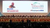 Hội nghị thượng đỉnh kinh doanh toàn cầu năm 2019 (VGGS 2019) khai mạc ngày 18/1 tại thành phố Ahmedabad, bang Gujarat, Ấn Độ. (Nguồn: indianexpress.com)
