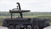 Hệ thống tên lửa đạn đạo Novator 9M729 của Nga được giới thiệu tại Diễn đàn kỹ thuật - quân sự quốc tế ở Kubinka, ngoại ô Moskva. Ảnh tư liệu: REUTERS/TTXVN