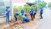 Hoạt động giữ vệ sinh đường phố, bảo vệ môi trường của chiến dịch Mùa hè xanh