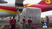 Máy bay Trung Quốc chở lô hàng dược phẩm viện trợ cho Venezuela. Ảnh: PressTV