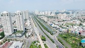 Tuyến Metro Bến Thành - Suối Tiên bên xa lộ Hà Nội Ảnh: CAO THĂNG