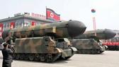 Tên lửa của Triều Tiên trong một cuộc duyệt binh ở Bình Nhưỡng tháng 4-2017