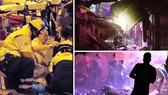 Lực lượng cứu hộ tại hiện trường vụ sập Butterfly Disco Pub trên đảo Tenerife, Tây Ban Nha, ngày 26-11-2017. Ảnh: TWITTER