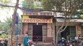 Hiện trường vụ cháy trên đường Nguyễn Ảnh Thủ, xã Bà Điểm, Hóc Môn. Ảnh: ĐAN NGUYÊN