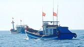Ứng cứu 2 tàu cá gặp nạn ngoài biển