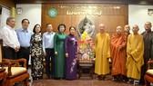 Đồng chí Võ Thị Dung, Phó Bí thư Thành ủy TPHCM đến thăm, chúc mừng Ban Trị sự Giáo hội Phật giáo Việt Nam TPHCM