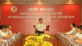 Tổng KTNN Hồ Đức Phớc phát biểu tại Hội nghị. Ảnh: Dangcongsan.vn