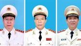 Thượng tướng Bùi Văn Nam, Thượng tướng Lê Quý Vương, Trung tướng Nguyễn Văn Sơn nhận thêm nhiệm vụ mới. Ảnh Mps.gov.vn