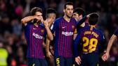 Các cầu thủ Barcelona giành quyền vào vòng 1/8 Cúp Nhà vua Tây Ban Nha
