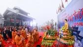 Khai hội xuân mở cổng trời Fansipan, du khách nô nức về chiêm bái xá lợi Phật trên đỉnh thiêng