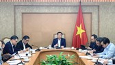 Phó Thủ tướng Vương Đình Huệ chủ trì cuộc họp. Ảnh: VGP/Thành Chung