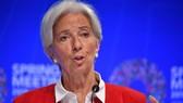 Tổng Giám đốc Quỹ Tiền tệ quốc tế (IMF) Christine Lagarde tại cuộc họp báo