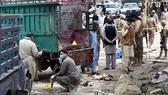 hiện trường vụ đánh bom ở Quetta, Pakistan ngày 12-4