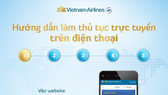 Vietnam Airlines cho check-in bằng điện thoại