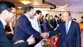 Thủ tướng Nguyễn Xuân Phúc và các đại biểu tham dự hội nghị Xúc tiến đầu tư tỉnh Quảng Ngãi năm 2019. Ảnh: TTXVN