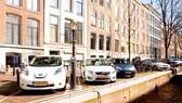Một điểm sạc xe điện ở Amsterdam