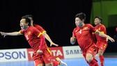 Việt Nam's male futsal team. — Photo laodongthudo.vn