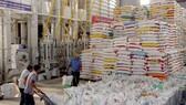 Stack of rice pallets at VINAFOOD's factory in HCM CIty. — VNA/VNS Photo Đình Huệ