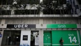 A view of Uber and Grab offices in Singapore on Mar 26, 2018. (Photo: Reuters)