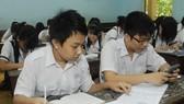 Học sinh lớp 9 trường THCS Kim Đồng, Q.5, TPHCM trong giờ ôn môn Toán. Ảnh minh họa