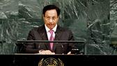 Thủ tướng Kuwait Sheikh Jaber Al-Mubarak Al-Hamad Al-Sabah phát biểu tại khóa họp lần thứ 72 Đại hội đồng LHQ ở New York, Mỹ ngày 20-9. Ảnh: THX/TTXVN