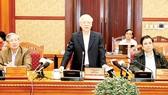 Tổng Bí thư Nguyễn Phú Trọng phát biểu tại cuộc họp Ban Bí thư. Ảnh: TTXVN