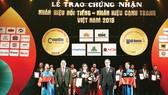 """Vedan Việt Nam vinh dự nhận giải thưởng """"Tốp 10 nhãn hiệu nổi tiếng hàng đầu Việt Nam"""""""