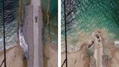 Israel xây dựng rào chắn trên biển gần Gaza