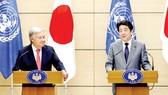 Thủ tướng Nhật Bản Shinzo Abe và Tổng Thư ký LHQ Antonio Guterres nhất trí duy trì trừng phạt Triều Tiên
