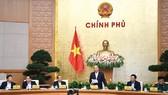 Thủ tướng Nguyễn Xuân Phúc chủ trì phiên họp Chính phủ. Ảnh: VIẾT CHUNG