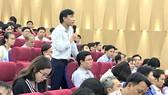 Đại diện Trường ĐH Sư phạm Hà Nội 2 nêu những khó khăn khi khai báo ngành, chỉ tiêu theo quy định mới của phần mềm