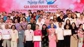 Phó Bí thư Thành ủy TPHCM Võ Thị Dung tuyên dương các gia đình hạnh phúc tiêu biểu